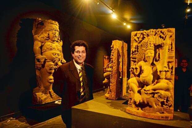 Naman Ahuja, the curator of the exhibition, at the National Museum two days before the opening. Photo: Pradeep Gaur/Mint